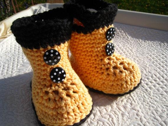 CROCHET PATTERN - baby boots, rain boots, galoshes, PDF pattern