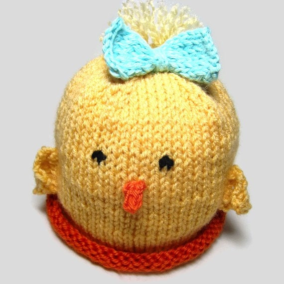 Knitting Patterns Baby Novelty Hats : Knit pattern Chick hat Knit baby hat Knit by EasyPeasyGrandma