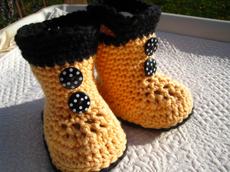 Crochet Pattern Baby Rain Boots : CROCHET PATTERN baby boots rain boots by EasyPeasyGrandma ...