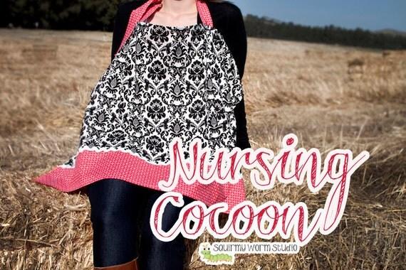 Nursing Cocoon / Cover Up - PDF Sewing Pattern - Instant Digital Download