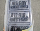 StamPology Clear Stamps 6 Piece