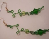Green Vine Earrings
