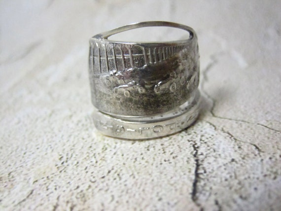 Indianapolis Speedway Sterling Spoon Ring