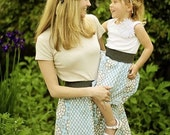 Matching mommy skirt or customized knee length skirt sizes L and xL