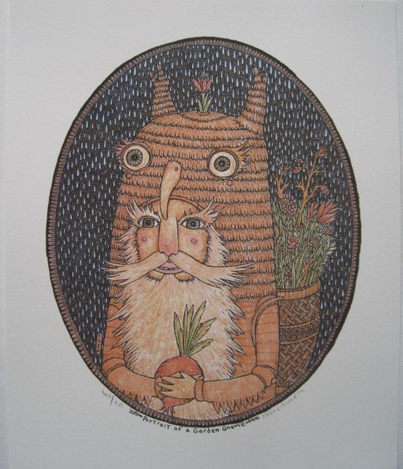 Portrait of a Garden Gnome (limited edition print)
