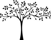 Tree with Leaves Vinyl Wall Art Graphics Lettering Decals Stickers