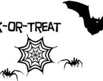 Trick or Treat Vinyl, Wall art, Graphics, Lettering, Decals, Stickers
