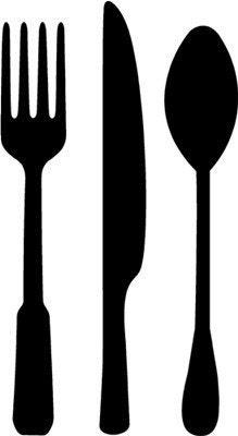 Fork Spoon & Knife Vinyl Wall Art Graphics Lettering