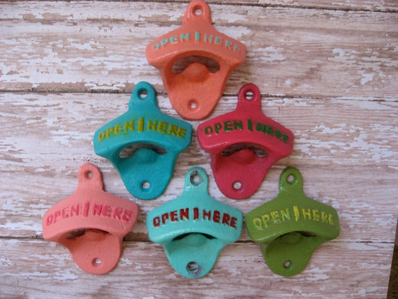 One Cast Iron Bottle Opener Antique Style Reminiscent of Days of Old or Gone By in Your Choice of Color(s) Vintage Retro Rustic Style