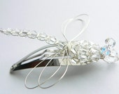 Crystal Dragonfly Hair Clip, Pin, Brooch or Bouquet Decoration - Wedding Bouquet Charm -  Dragonfly Jewelry - Tagt