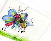 Butterfly Love Bee Flower Card