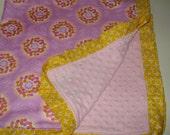 Ruffle Minky Baby Blanket in Weekend Lollies