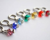 Drops of Rainbow Stitch Markers Set of 7