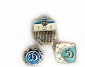 Set of 3 Small Soviet Vintage Pins /Badges. Dinamo Dynamo Sports Club. Rare