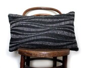 Waves and Paisley. Customizable Vintage Pillow/Cushion Cover. Vintage Japanese Kimono Wool and Natural Linen. Eco. Choose a size.