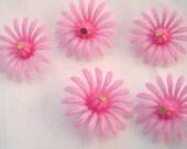 Vintage bubble gum pink plastic daisies - hippie chic