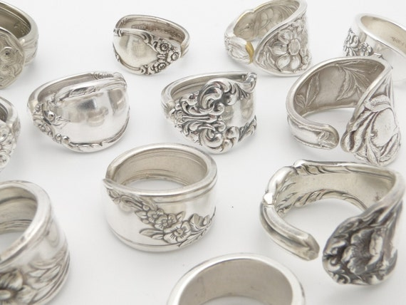 items similar to 4 wholesale vintage silver spoon rings on