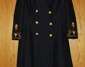Vintage Overcoat Women's Small Greek Designers Nikos Takis Quality made in Excellent Condition