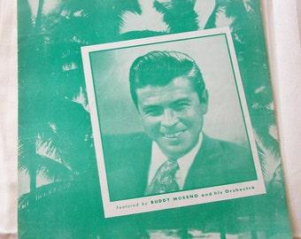 Down Among the Sheltering Palms Buddy Moreno Vintage Piano Sheet Music