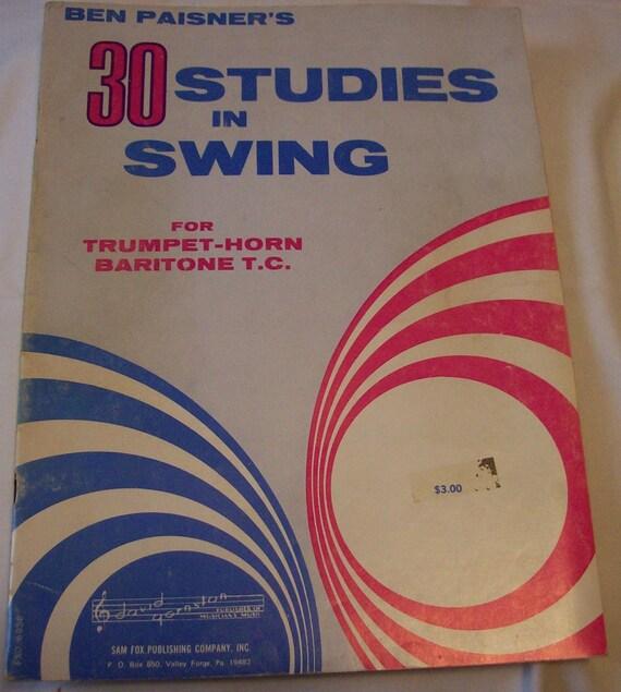 Vintage Sheet Music Book Ben Painers 30 Studies Swing Trumpet Horn