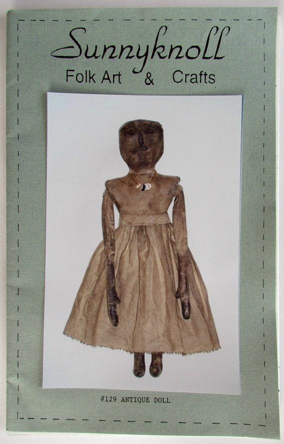 """Sunnyknoll Folk Art & Crafts Pattern No. 129 """"Antique Doll"""""""