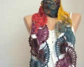Batik Mohair Scarf Winter Accessories Mothers day Gift under 25