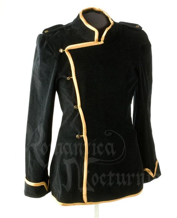 Custom Military-style Velvet Men's Jacket - Made to your measurements