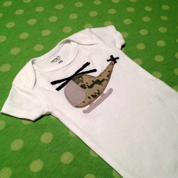ARMY ACU Helicopter Onesie- Made to Order