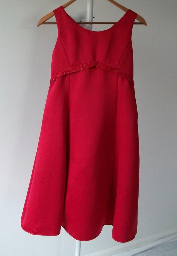 Girls dress formal dress with crinoline size 12 sleeveless satin back tie bow at lilacinspirations