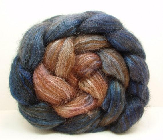 TWILIGHT Chocolate Alpaca/Silk Spinning Fiber 4 oz