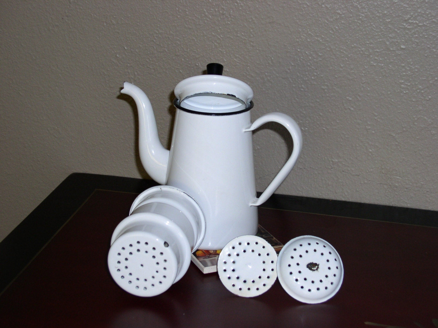 enamel 2 cup drip stovetop coffee pot