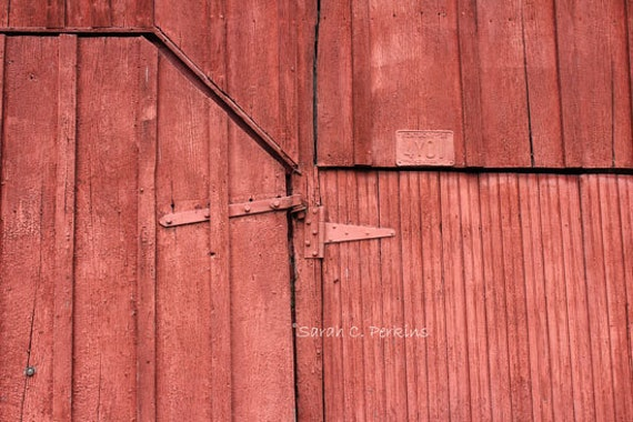 Red Country Wall Decor : Rustic red country wall decor distressed by