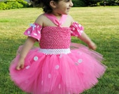 FREE SHIPPING - Minnie Mouse Inspired Tutu Dress Halloween Costume. Last day to order is October 17, 2011.
