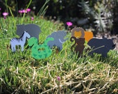 24 jungle cupcake toppers