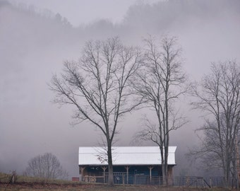 "Fine Art Print ""Foggy Mountain Barn"" 8x12"