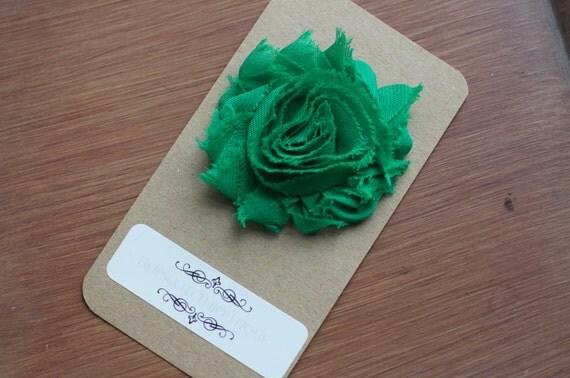 Grace Clips - Shabby Flower Hair clips in Grass