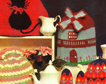 Vintage Tea Pot Cozy Pattern Collection Knitting and Crochet PDF Download