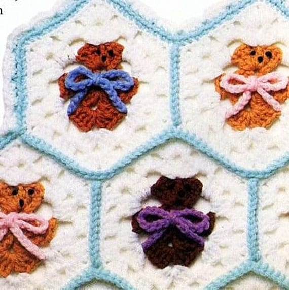 Free Teddy Bear Filet Crochet Afghan Pattern : Search Results for ?Teddy Bear Filet Baby Blanket Crochet ...