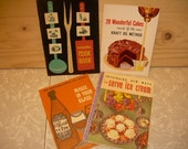 More great VINTAGE recipe pamphlets/cookbooks sponsored by KRAFT, Sealtest, Metropolitan Life Ins.and The Wine Advisory Board ... free shipping