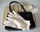 CHURCH LADY Vintage Collection with Black Handbag Purse White Gloves Songbook Hymnal and More