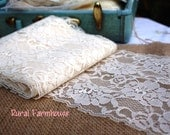 Extra Wide Vintage Ivory Lace