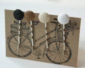 Classically Cool Corduroy Bobby Pin Set of 4