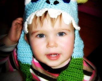 PDF Pattern Wow murloc crochet hat for toddler to teen world of warcraft