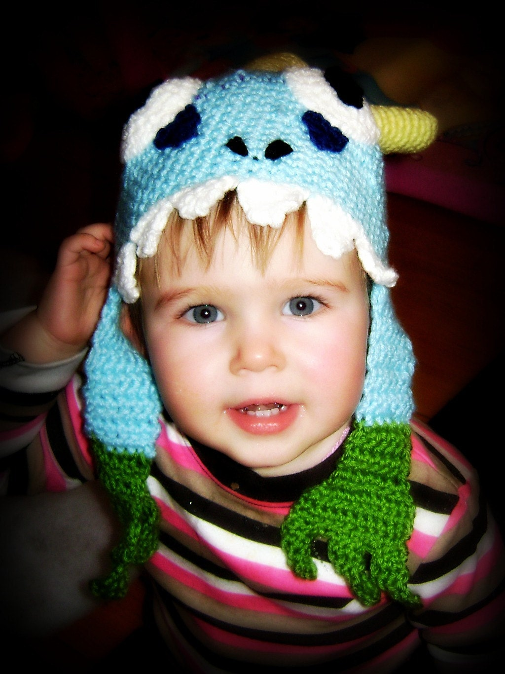 Crochet Hat Pattern Teenager : PDF Pattern Wow murloc crochet hat for toddler to teen world