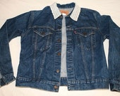 Jean jacket, Levi's, lace collar