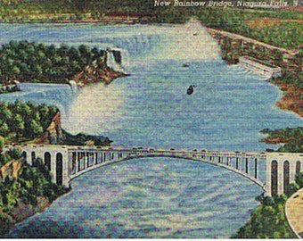 Vintage Postcards-  Niagara Falls Photos- Rainbow Bridge