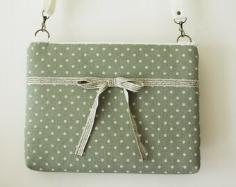13 inch  Macbook or Laptop bag with  detachable shoulder strap and interior pocket- Ready to ship