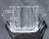 REDUCED, VINTAGE Clear Glass Sugar Bowl for Showers, Parties, Victorian Teas or Special Gift