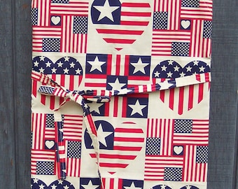 PATRIOTIC STARS & HEARTS Chef or Barbeque Apron