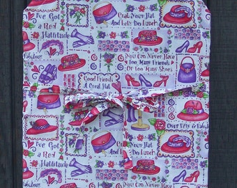 RED HAT LADY'S  High  Fashion Chef  Apron with Adjustable Ties